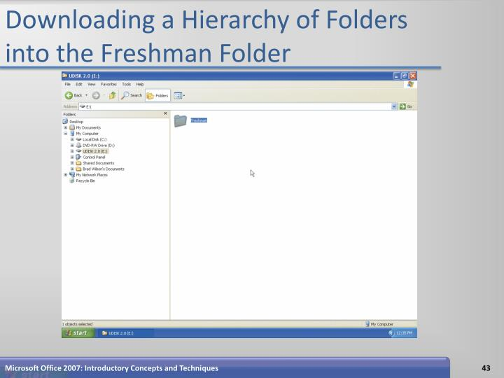 Downloading a Hierarchy of Folders