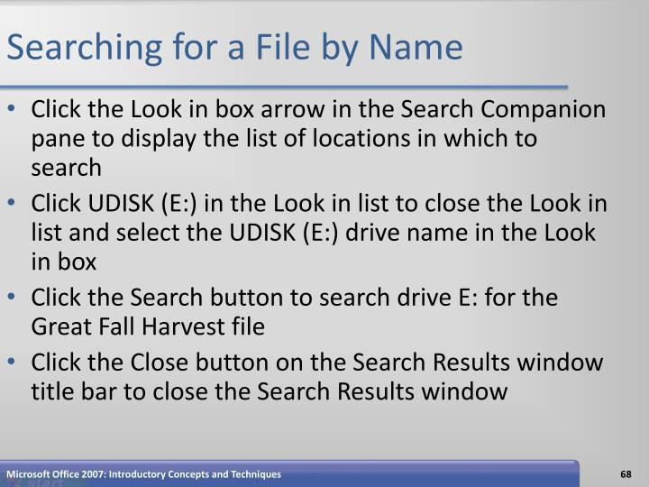 Searching for a File by Name