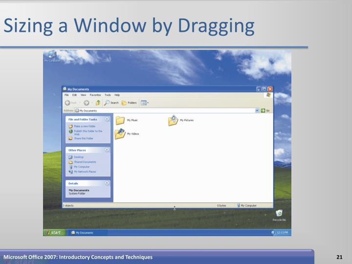Sizing a Window by Dragging