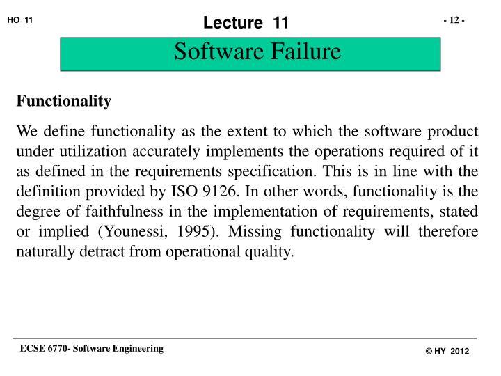 Software Failure