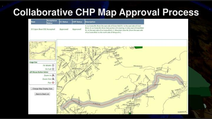 Collaborative CHP Map Approval Process