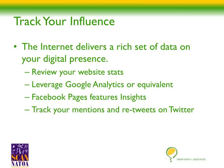 Track Your Influence