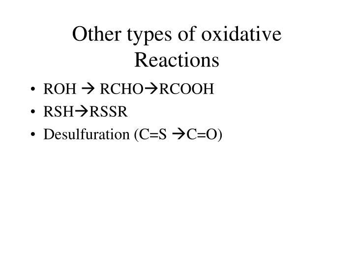 Other types of oxidative Reactions