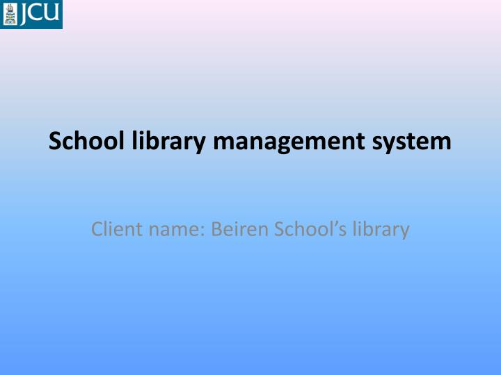 school library management system