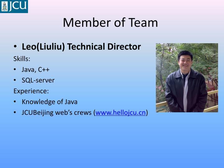 Member of Team