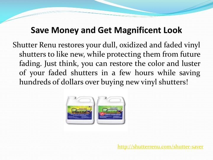 Save Money and Get Magnificent