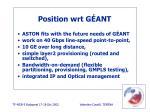 position wrt g ant