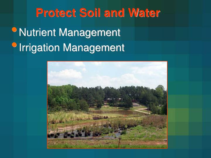Protect Soil and Water