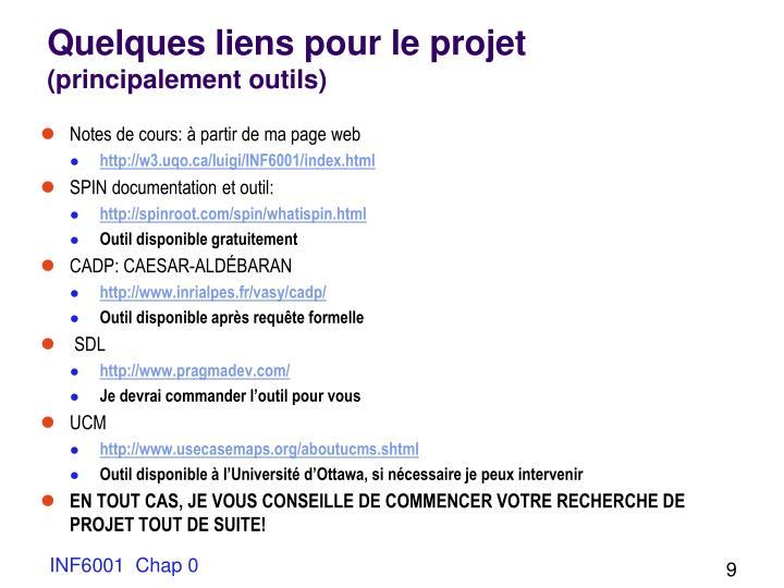 Quelques liens pour le projet