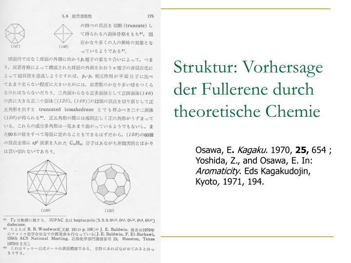 Struktur: Vorhersage der Fullerene durch theoretische Chemie