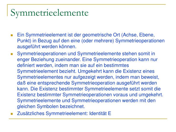 Symmetrieelemente