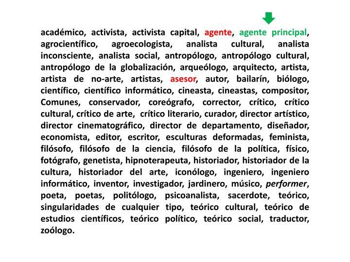académico, activista, activista capital,