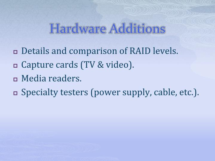 Hardware Additions