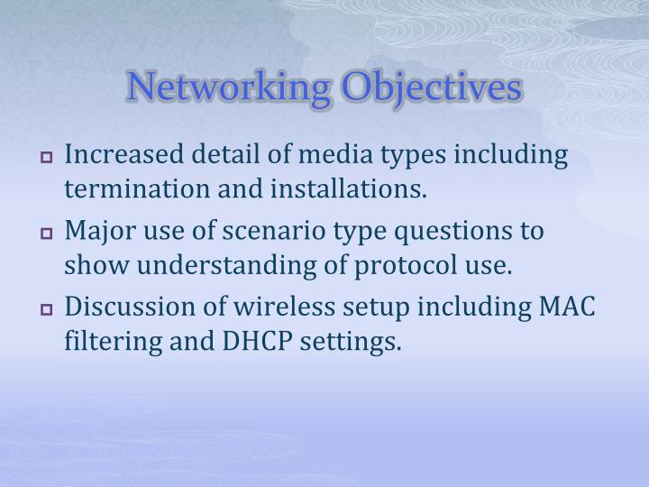 Networking Objectives
