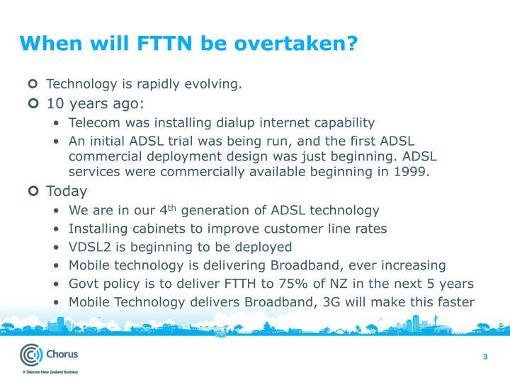When will FTTN be overtaken?