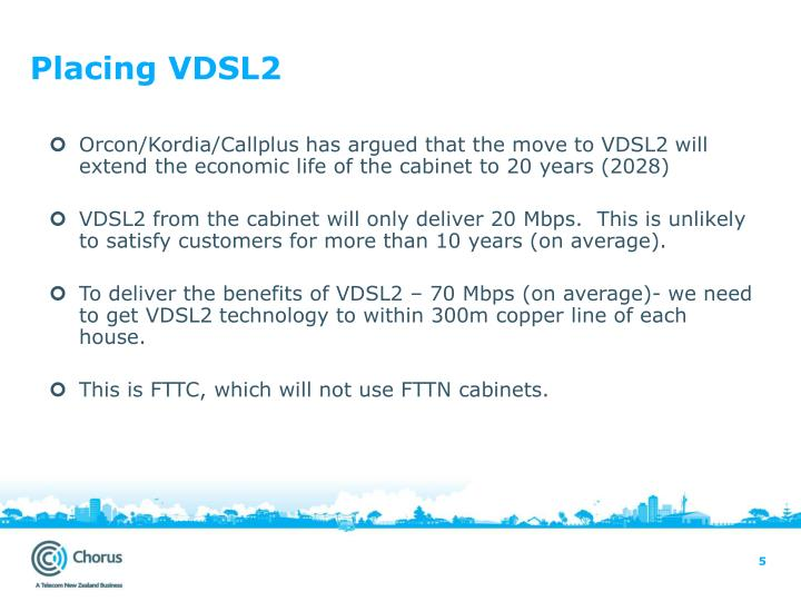 Placing VDSL2