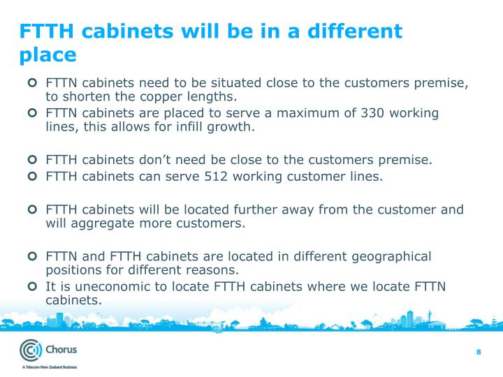FTTH cabinets will be in a different place
