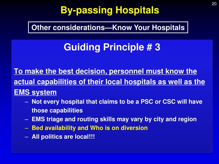 By-passing Hospitals