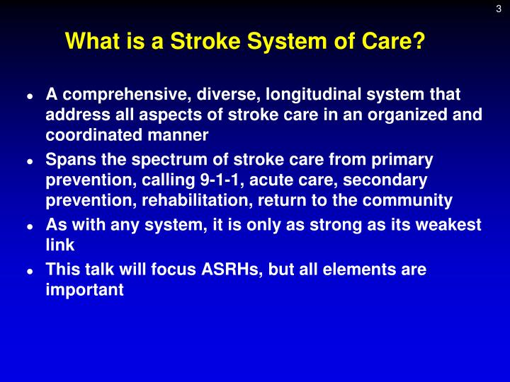 What is a Stroke System of Care?