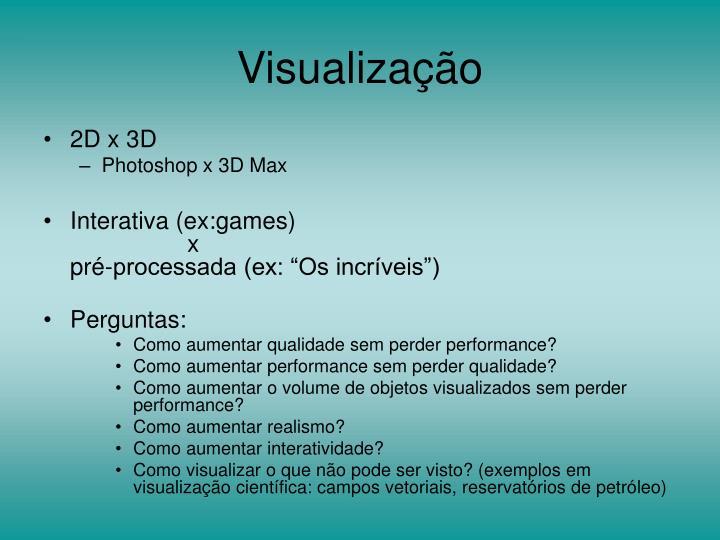 Visualização