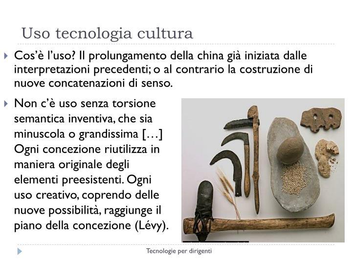 Uso tecnologia cultura