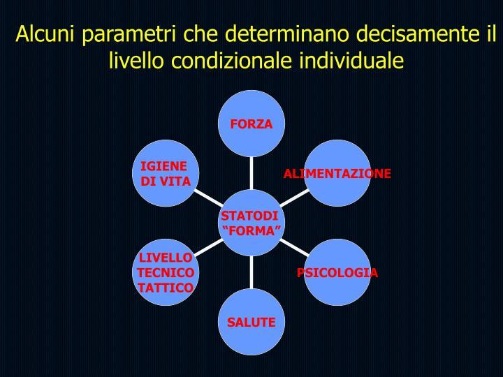 Alcuni parametri che determinano decisamente il livello condizionale individuale