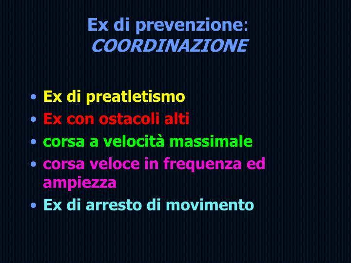 Ex di prevenzione