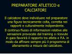 preparatore atletico e calciatori