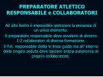 preparatore atletico responsabile e collaboratori