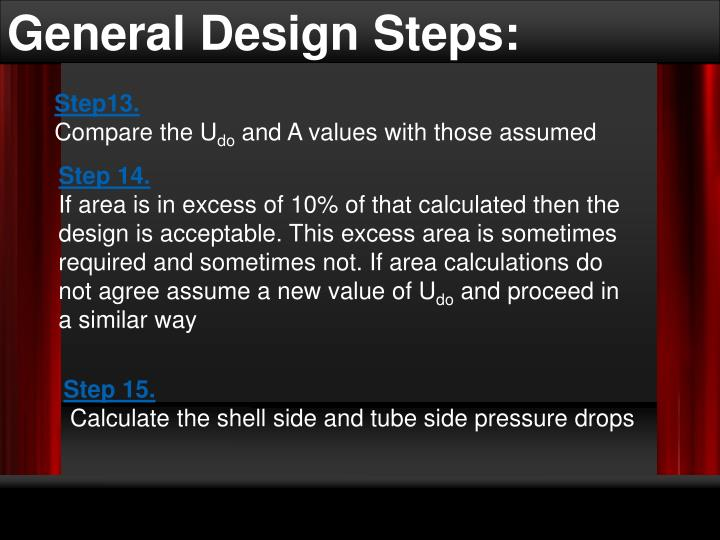 General Design Steps: