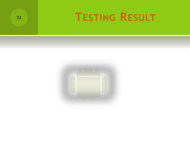 Testing Result