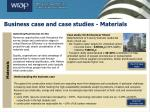 business case and case studies materials