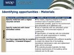 identifying opportunities materials