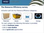 the resource efficiency survey