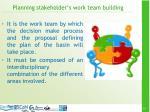 planning stakeholder s work team building