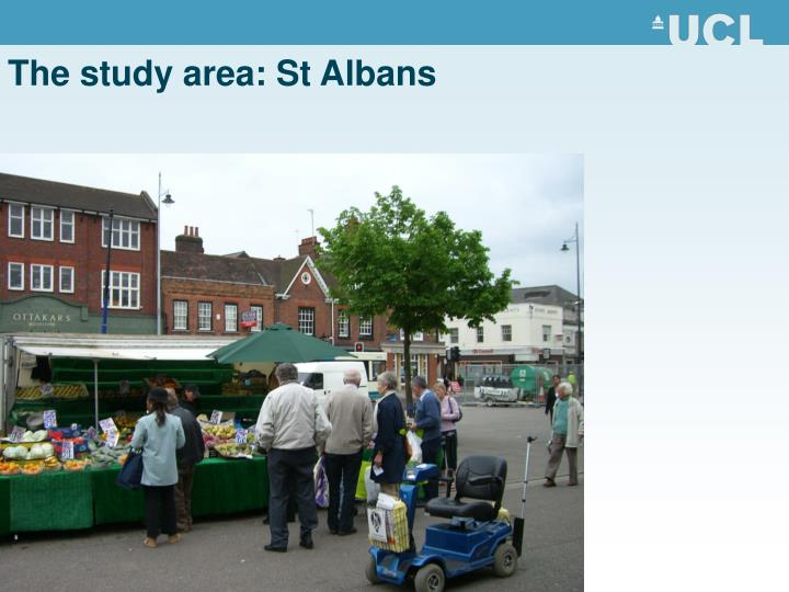The study area: St Albans