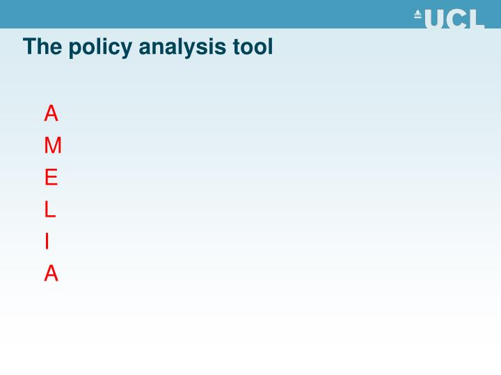 The policy analysis tool