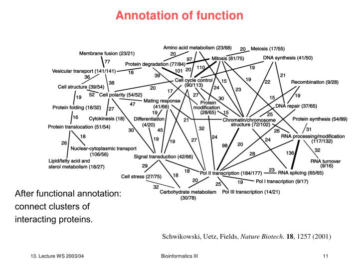 Annotation of function