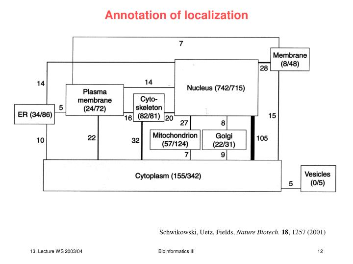 Annotation of localization