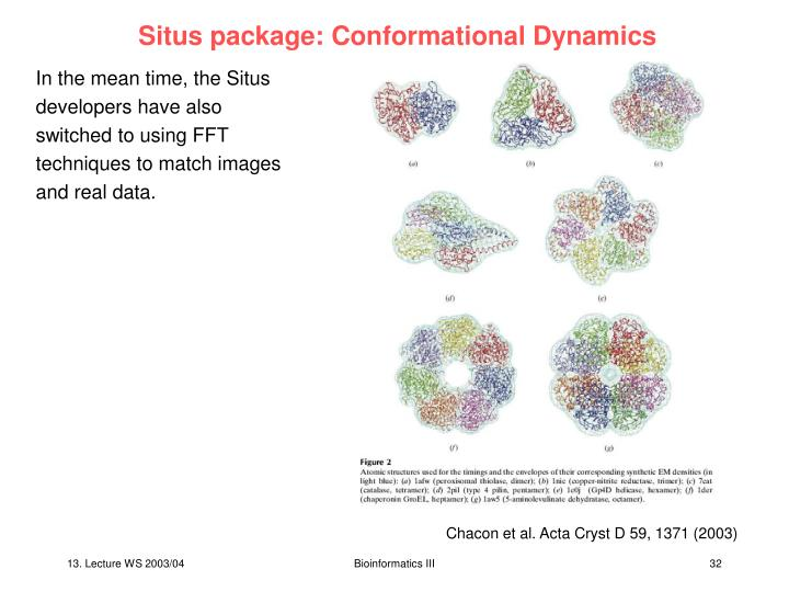 Situs package: Conformational Dynamics