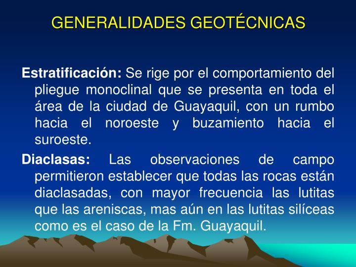 GENERALIDADES GEOTÉCNICAS