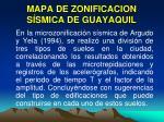 mapa de zonificacion s smica de guayaquil
