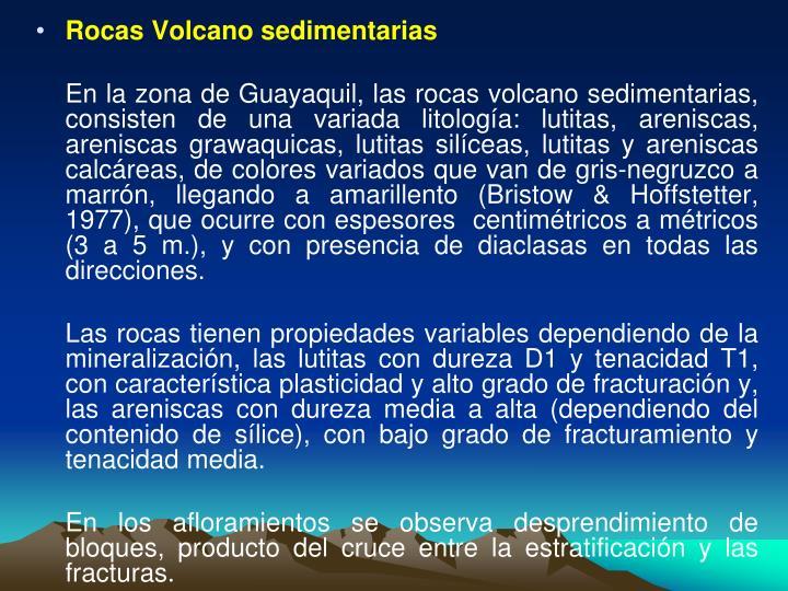 Rocas Volcano sedimentarias