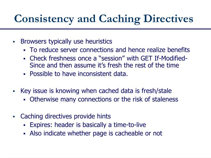Consistency and Caching Directives