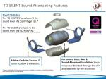 td silent sound attenuating features