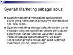 syariah marketing sebagai solusi