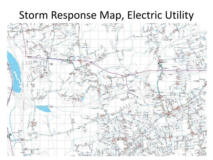 Storm Response Map, Electric Utility