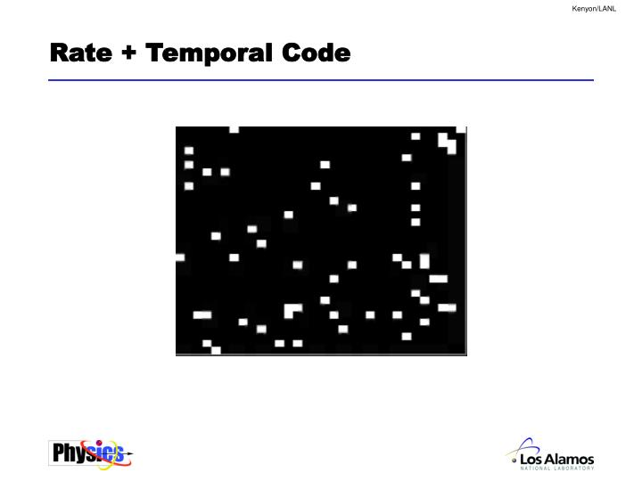 Rate + Temporal Code