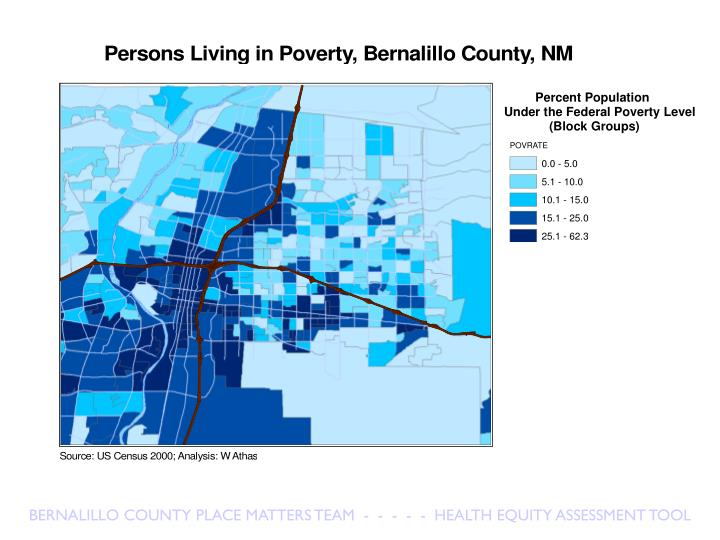BERNALILLO COUNTY PLACE MATTERS TEAM  -  -  -  -  -  HEALTH EQUITY ASSESSMENT TOOL