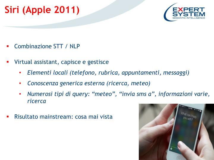 Siri (Apple 2011)
